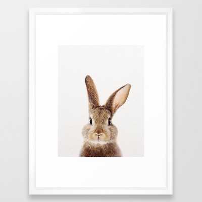 Baby Rabbit, Baby Animals Art Print By Synplus Framed Art Print - Society6