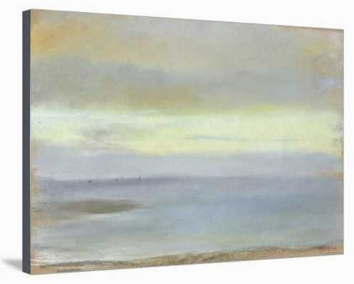 """Marine Sunset,"" C.1869 By Edgar Degas (Stretched Canvas Print) - art.com"