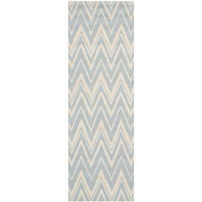 Martins Hand-Tufted Wool Blue/Ivory Area Rug - Wayfair