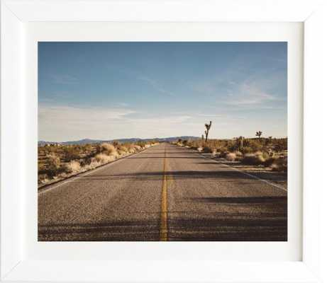 JOSHUA TREE ROAD White Framed Wall Art - Wander Print Co.