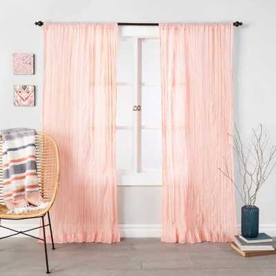 """Crushed Sheer Curtain Panel - Opalhouse™ 95"""" - Target"""