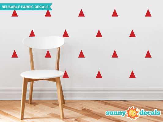 Triangle Fabric Wall Decal - Red - Wayfair