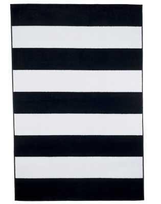 Bold Stripe Black Area Rug - Wayfair