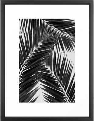Palm Leaf Black & White III Framed Art Print - Society6