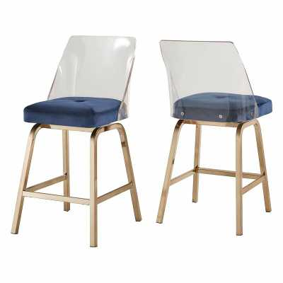 Veronica Swivel Bar + Counter Stool (Set of 2) - Wayfair
