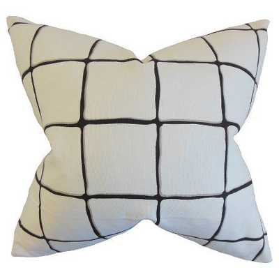 """Black Bold Plaid Throw Pillow (18""""x18"""") - Insert Included - Target"""