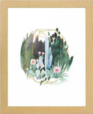 "Cactus Garden Framed Art Print - Conservation Natural  Mini 10"" x 12"" by Enframephotography - Society6"