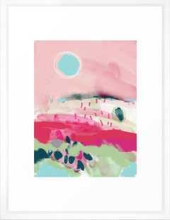 """Spring Dream Landscape, 20""""x26"""", White Vector Frame - Society6"""