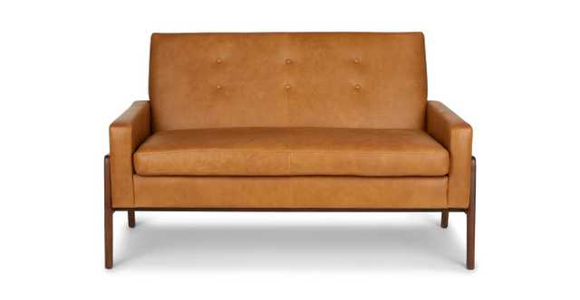 Nord Mid century modern loveseat / leather loveseat - Article