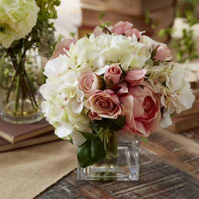 Assorted Roses Centerpiece in Glass Vase - Wayfair