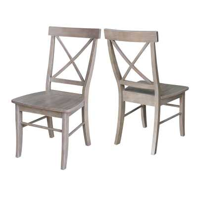 Sawyer Solid Wood Dining Chair / Washed Gray Taupe / Set of 2 - Wayfair