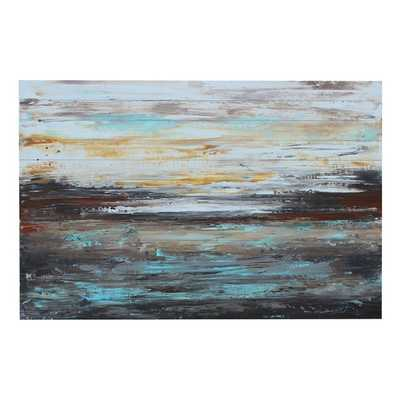 'Abstract Cold' Framed on Wood - Wayfair