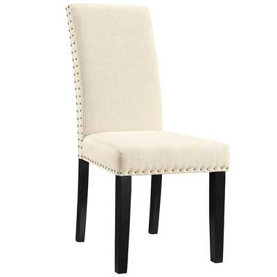 PARCEL DINING FABRIC SIDE CHAIR IN BEIGE - Modway Furniture