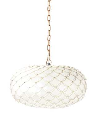 Capiz Scalloped Chandelier - Serena and Lily