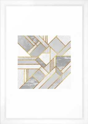 Gold City Art Print - Small by Elisabethfredriksson Vector white - Society6