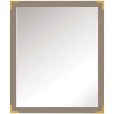 Home Decorators Collection Chatham 30 in. H x 36 in. W Double Framed Mirror in taupe - Home Depot