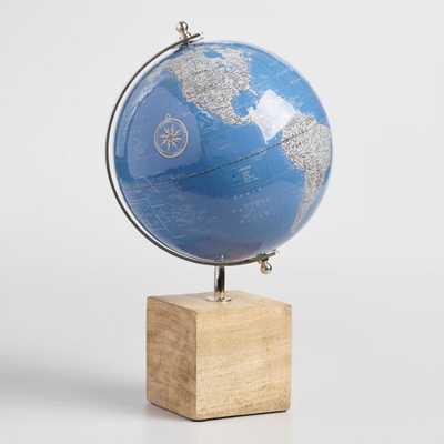 Lacquered Blue Globe on Wood Base by World Market - World Market/Cost Plus