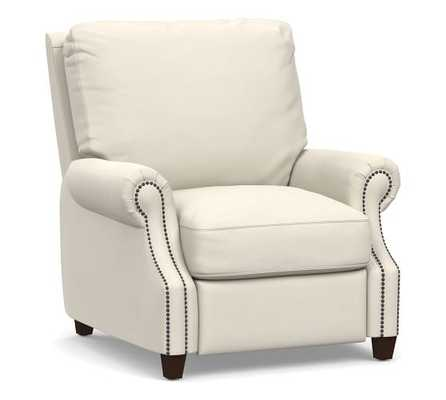 James Leather Recliner, Down Blend Wrapped Cushions - Pottery Barn