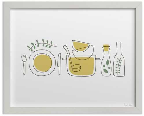 """""""Cooking With Spices And Herbs"""" w/ Artist Signature - Minted"""