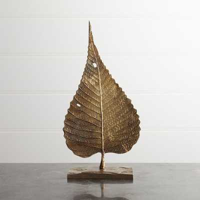 Bodhi Leaf On Stand - 14H - Crate and Barrel