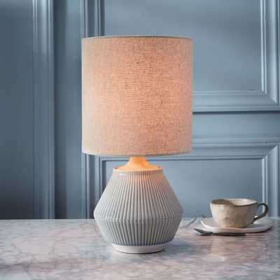 Roar + Rabbit™ Ripple Ceramic Table Lamp - Small Narrow (Cool Gray) - West Elm