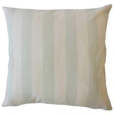 """Gabirel Striped Pillow  - Light Blue - 20"""" with down insert - Linen & Seam"""