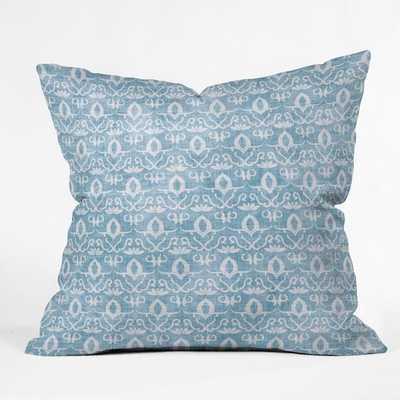 """WIDDEN INDIGO Throw Pillow - 20"""" x 20"""" - With Insert - Wander Print Co."""