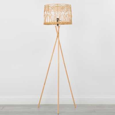 Rattan Tripod Floor Lamp - Target