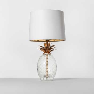 Glass Pineapple Table Lamp Brass - Target