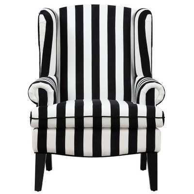 Pepperdine Velvet Wingback Chair - Maren Home