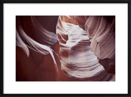 "Antelope Canyon - 28""x20 - black wood frame - with mat - Artfully Walls"