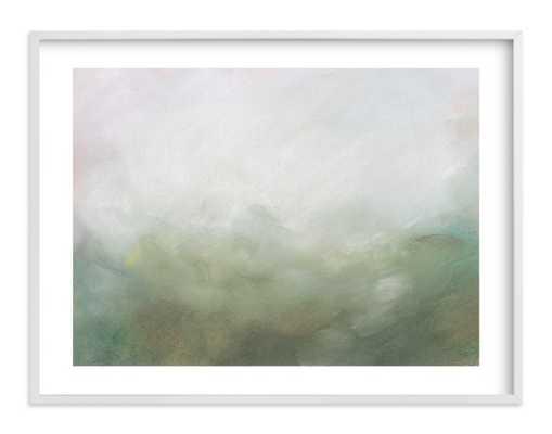 Morning mist - 30x40 - White Wood Frame - White Border - Minted
