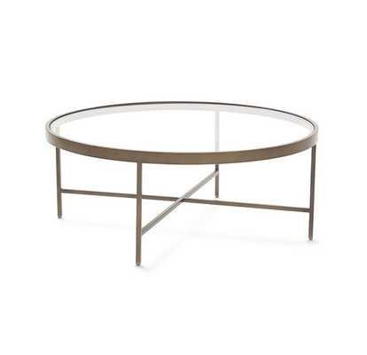 VIENNA ANTIQUE BRASS ROUND COCKTAIL TABLE - Mitchell Gold + Bob Williams
