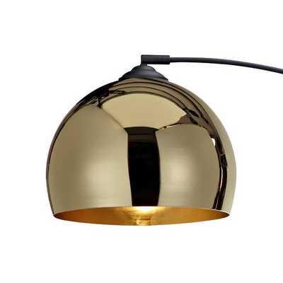 "Arquer 66.93"" Arched Floor Lamp - Gold - Wayfair"