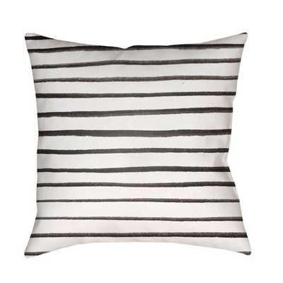 Surya Pin Striped Outdoor Pillow - 20x20 - Hayneedle