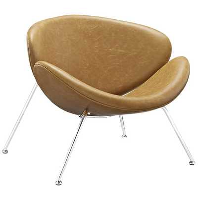NUTSHELL LOUNGE CHAIR IN TAN - Modway Furniture