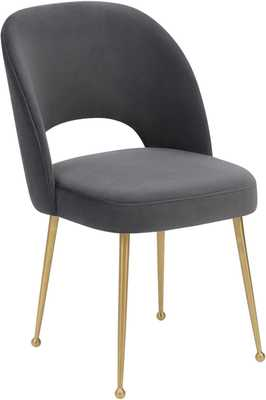 Alani Dark Morgan Velvet Chair - Maren Home