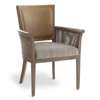 Rustic Stitched Back Armchair - Wisteria
