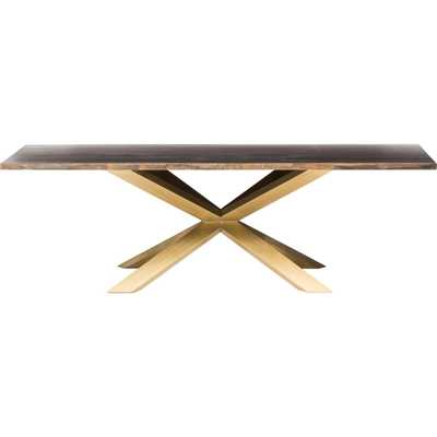 Couture Dining Table, Brushed Gold - High Fashion Home