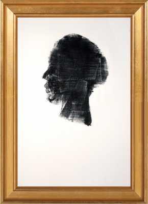 HEAD 259 - 10x14 - Gold leaf wood frame no matte - Artfully Walls