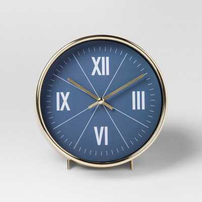 Decorative Table Top Clock - Blue/Brass - Project 62 - Target