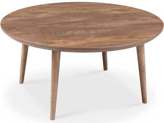 Victory Round Coffee Table Walnut - Apt2B