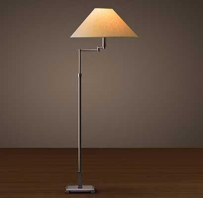 CLASSIC CANDLESTICK SWING-ARM FLOOR LAMP - RH