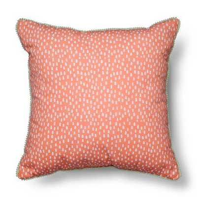 "Pom Pom Throw Pillow - 18""x18"" - Coral - Pillowfort™ - Target"