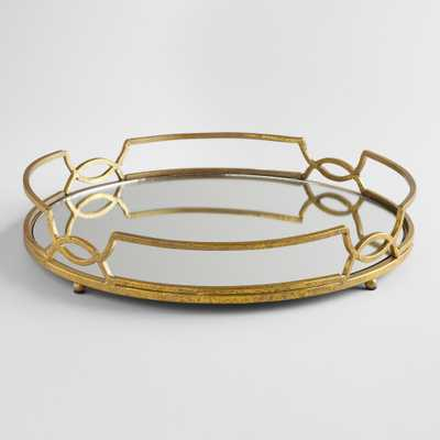 Gold Mirrored Tabletop Tray - Metal by World Market - World Market/Cost Plus