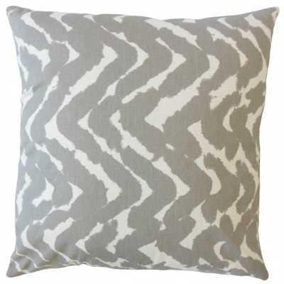 Cache Zigzag Pillow Gray- 18x18 w/ insert - Linen & Seam