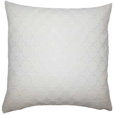 "Vadim Geometric Pillow White- 20"" x 20""-   Down Insert - Linen & Seam"
