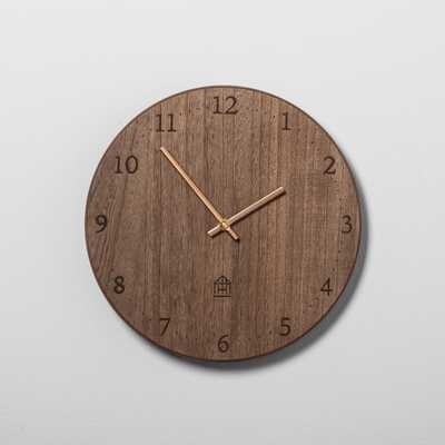 Round Wood Clock - Hearth & Hand™ with Magnolia - Target