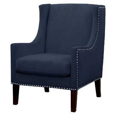 Jackson Wingback Chair - Velvet Navy - Target