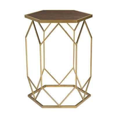 HEXAGON FRAME SIDE TABLE - Rosen Studio
